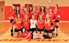 Big Piney Punchers Girls Varsity Volleyball Fall 18-19 team photo.