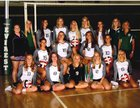D.C. Everest Evergreens Girls Varsity Volleyball Fall 18-19 team photo.
