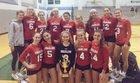 Ursuline Academy Raiders Girls Varsity Volleyball Fall 18-19 team photo.