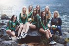 Burney Raiders Girls Varsity Volleyball Fall 18-19 team photo.