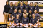 Covington Trojans Girls Varsity Volleyball Fall 18-19 team photo.