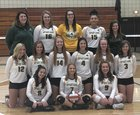 Martin Luther Spartans Girls Varsity Volleyball Fall 18-19 team photo.
