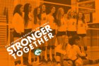 Frederick Douglass Broncos Girls Varsity Volleyball Fall 18-19 team photo.