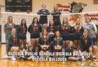 Osceola Bulldogs Girls Varsity Volleyball Fall 18-19 team photo.