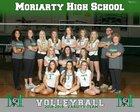 Moriarty Pintos Girls Varsity Volleyball Fall 18-19 team photo.