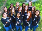 Highlands Ranch Falcons Girls Varsity Volleyball Fall 18-19 team photo.