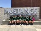 Costa Mesa Mustangs Girls Varsity Volleyball Fall 18-19 team photo.