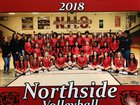 Northside Grizzlies Girls Varsity Volleyball Fall 18-19 team photo.