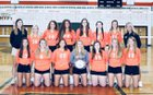 East Lincoln Mustangs Girls Varsity Volleyball Fall 18-19 team photo.