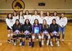 Kirtland Central Broncos Girls Varsity Volleyball Fall 18-19 team photo.