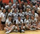 Prairie Ridge Wolves Girls Varsity Volleyball Fall 18-19 team photo.
