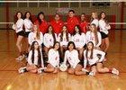 Valencia Jaguars Girls Varsity Volleyball Fall 18-19 team photo.