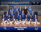 Dobson Mustangs Girls Varsity Volleyball Fall 18-19 team photo.
