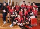 Omak Pioneers Girls Varsity Volleyball Fall 18-19 team photo.