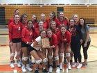 Wauwatosa East Red Raiders Girls Varsity Volleyball Fall 18-19 team photo.