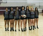 Valley Vikings Girls Varsity Volleyball Fall 18-19 team photo.