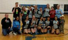 Union Colony Prep Timberwolves Girls Varsity Volleyball Fall 18-19 team photo.
