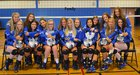 Oswego Bucs Girls Varsity Volleyball Fall 18-19 team photo.