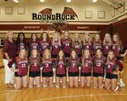 Round Rock Dragons Girls Varsity Volleyball Fall 18-19 team photo.