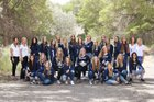 Duchesne Eagles Girls Varsity Volleyball Fall 18-19 team photo.