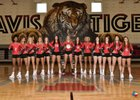 Fort Bend Travis Tigers Girls Varsity Volleyball Fall 18-19 team photo.