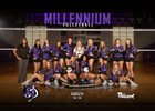 Millennium Tigers Girls Varsity Volleyball Fall 18-19 team photo.
