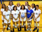 Decatur Bulldogs Girls Varsity Volleyball Fall 18-19 team photo.
