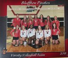 Bluffton Pirates Girls Varsity Volleyball Fall 18-19 team photo.