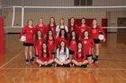 Pocahontas Redskins Girls Varsity Volleyball Fall 18-19 team photo.