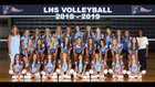 Lewisburg Patriots Girls Varsity Volleyball Fall 18-19 team photo.