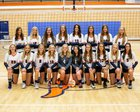 Mountain Crest Mustangs Girls Varsity Volleyball Fall 18-19 team photo.