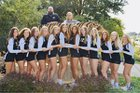 Blue Valley Tigers Girls Varsity Volleyball Fall 18-19 team photo.