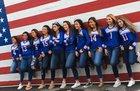 Veterans Memorial Patriots Girls Varsity Volleyball Fall 18-19 team photo.