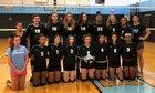 Rye Neck Panthers Girls Varsity Volleyball Fall 18-19 team photo.