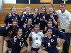 DePaul College Prep Rams Girls Varsity Volleyball Fall 18-19 team photo.