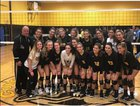 Commack Cougars Girls Varsity Volleyball Fall 18-19 team photo.