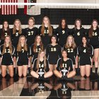 Sunny Hills Lancers Girls Varsity Volleyball Fall 18-19 team photo.
