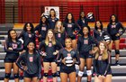 North Central Panthers Girls Varsity Volleyball Fall 18-19 team photo.