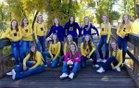 Saratoga Panthers Girls Varsity Volleyball Fall 18-19 team photo.