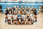 Southwestern Randolph Cougars Girls Varsity Volleyball Fall 18-19 team photo.