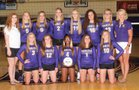 Carlyle Indians Girls Varsity Volleyball Fall 18-19 team photo.