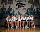 Lake City Timberwolves Girls Varsity Volleyball Fall 18-19 team photo.