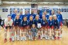 West Henderson Falcons Girls Varsity Volleyball Fall 18-19 team photo.