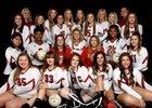 Atkins Red Devils Girls Varsity Volleyball Fall 18-19 team photo.