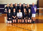 Dryden Lions Girls Varsity Volleyball Fall 18-19 team photo.