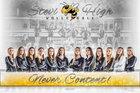 Stevensville Yellowjackets Girls Varsity Volleyball Fall 18-19 team photo.