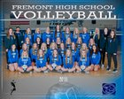 Fremont Silver Wolves Girls Varsity Volleyball Fall 18-19 team photo.
