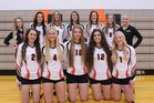 Cokeville Panthers Girls Varsity Volleyball Fall 18-19 team photo.