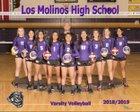 Los Molinos Bulldogs Girls Varsity Volleyball Fall 18-19 team photo.