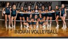 Minooka Indians Girls Varsity Volleyball Fall 18-19 team photo.
